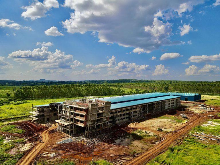 Status of construction of the Kiira Vehicle Plant, December 2020